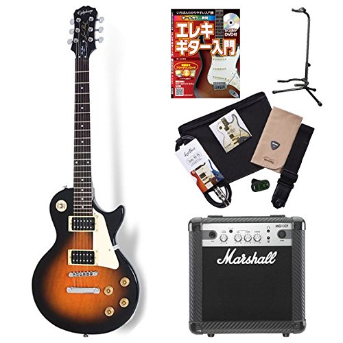 Epiphone LP100 VSB Les Paul electric guitar beginner set Marshall amplifier introductory set (Epiphone) online store limited