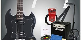 Starting from Epiphone! Adult introduction to Epiphone G-310 EB electric guitar Marshall amplifier with 10 points set
