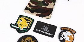 "[TrueSense] [Five] patch set + Camo DrawString bag with ""Velcro patch Walker MILITAIRES SANS FRONTIERES DIAMOND DOGS FOXHOUND Foxhound TO LET THE WORLD TO BE OTA soul (Otakon) XOF military costume play survival game S701"