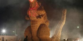 [Sad news] straw, Godzilla, stop the illumination by LED received the fire accident of example