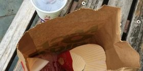 www you are eating McDonald in the park (with image)