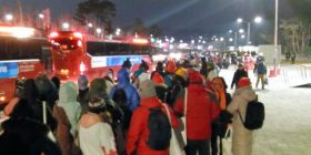 "[Sad news] Pyeongchang Olympic Games opening ceremony of the audience, havoc not go back even in the middle of the night, ""another train came to an end."""