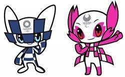 Tokyo Olympics mascot, awakening.