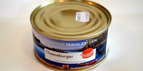 Canned cheeseburger, it looks delicious