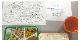 This is the school lunch at the public middle school in Yokohama. This gorgeous price for each person 6000 yen per person