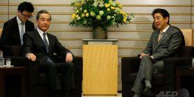 "Prime Minister Shinzo Abe is pointed out as ""rude"" by pairing at the meeting place with the Chinese Foreign Minister"