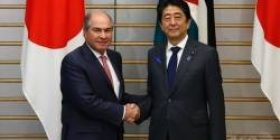 """At a press conference in Asahi Shimbun newspaper reporter Abe 's press conference in Jordan, """"The opposition is calling for the resignation of the Aso Finance Minister, is it planning to continue after the investigation?"""""""