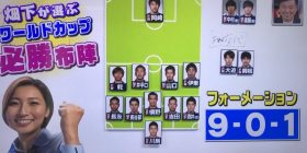 Female, we will form a formation of Japanese national soccer team