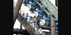Roller coaster stalls, leaving dozens hanging midair – ABC News