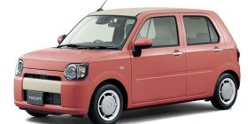 Here is the design of a new mini car developed by Daihatsu through the opinions of female employees