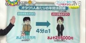 【Unreasonableness】 As a result of examining the annual consumption amount of geeks in 2004 and 2013