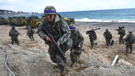 US-South Korea military drills are 'vital' to East Asia, says Japan's defense minister – CNBC