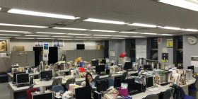 TBS Ukagi Misato Ana (27), taken in the morning office is totally alone
