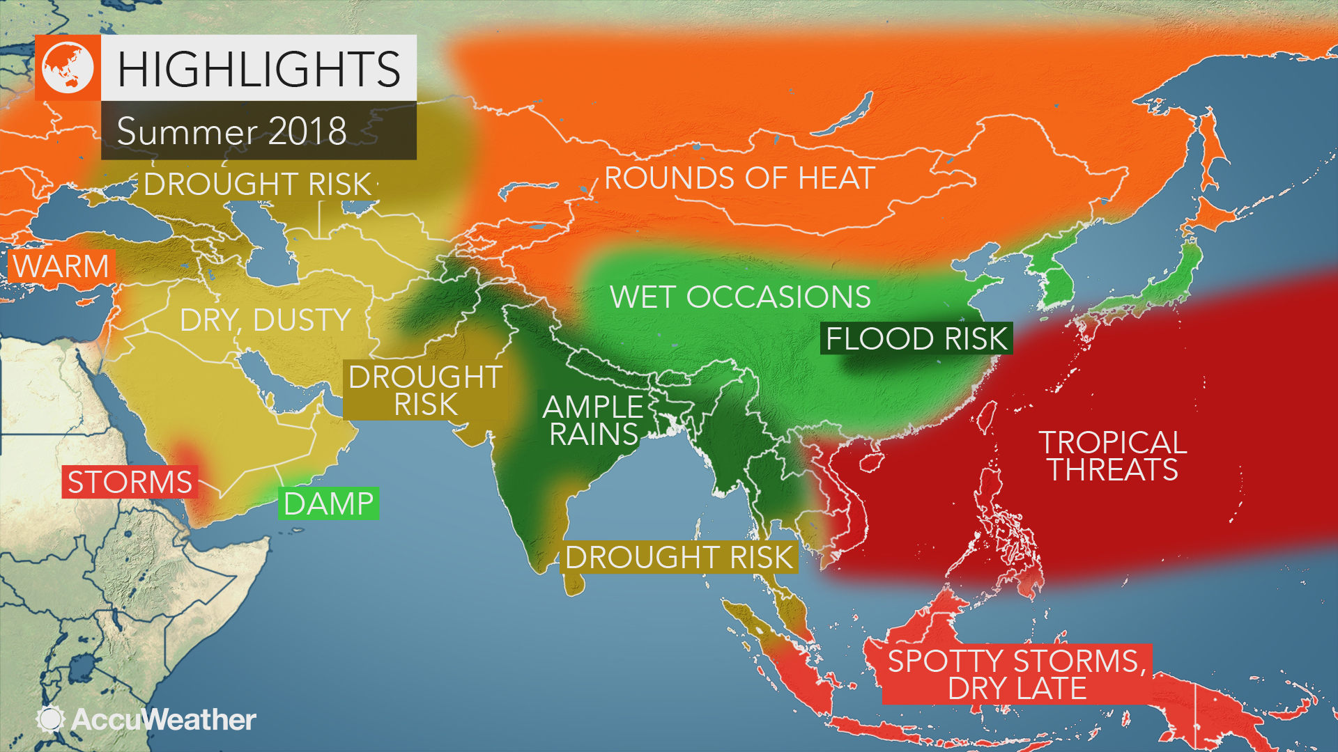 2018 Asia autumn forecast: Japan may face flood threats as drought builds from Ukraine to Kazakhstan – AccuWeather.com