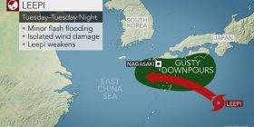 Severe Tropical Storm Leepi to slam southern Japan, South Korea into Wednesday night – AccuWeather.com
