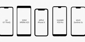 【Image】 This is a list of bezel shapes of each smartphone. Which one do you like the most?