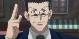 The one who is going to receive a hunter exam with a single butterfly knife like Leorio