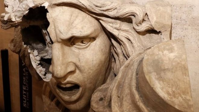 【Sad news】 Marianne statue of Arc de Triomphe, also said to be a symbol of Buddha, destroyed