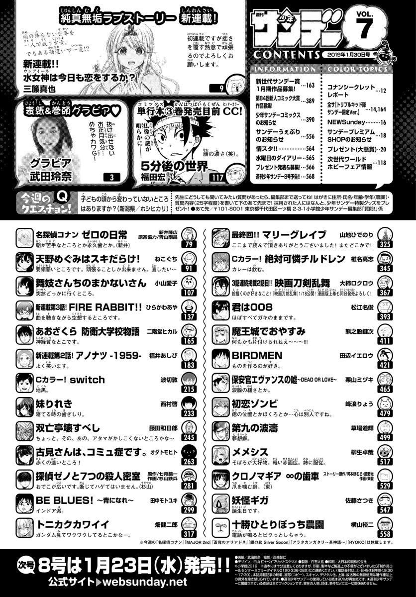 【Super image】 Weekly Shonen Sunday, one after another the beginning of the manga … w