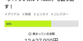 【Good news】 vtuber group, 12 million yen will be collected by cloud funding, although it is unknown …