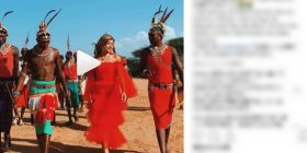 """[Angel] Laura Chan, wwwww as a result of visiting the tribe of Kenya with """"red dress dress"""""""