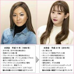 [Image] 20 years ago and 2019 makeup and fashion comparison www