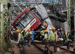 [Image] Track image of the Keikyu accident 5 minutes ago How do people avoid the accident from here?